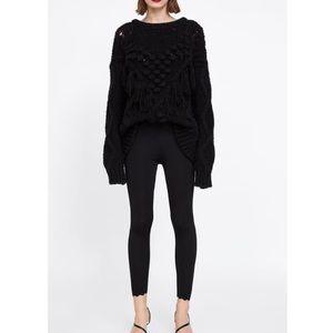 Zara Pants - Zara knit contrast hem leggings